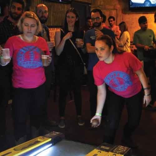 skeeball party fun adult social league ball game